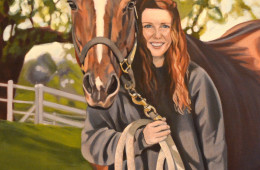 Jacy and Diego, Oil Paint on Canvas, 30″x24″