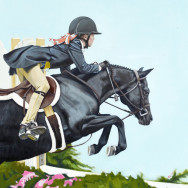 Saddle Sold Separately, Oil Painting on Canvas, 30″x24″