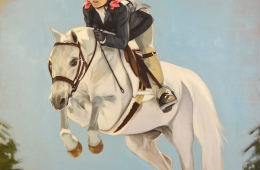Georgia and Madeline, Oil Painting on Canvas, 30″x24″