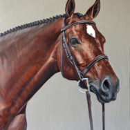 Ruby, Oil Painting, 18″x24″